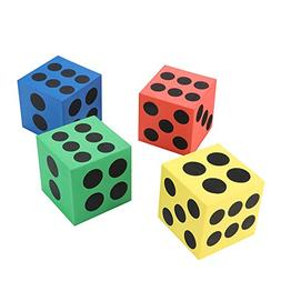 Mandy 4Pcs Eva Foam Dice Six Sided Spot Dice Kid Game Soft L