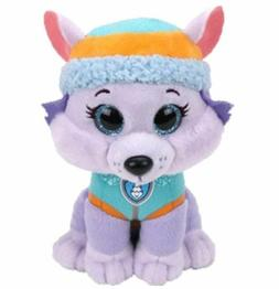 "Everest Wolf 6"" Ty Beanie Boos Puppy Glitter Big Eyes Plush"