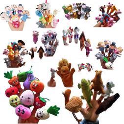 Family Finger Puppets Plush Doll Baby Kids Educational Hand