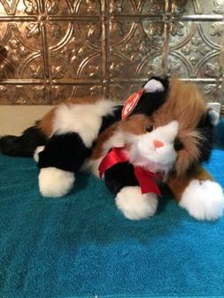 Ty Fluffy Calico Persion Cat Maggie Plush Toy Stuffed Animal