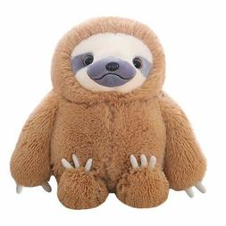 Winsterch Fluffy Sloth Stuffed Animal Toy Gift for Kids Larg