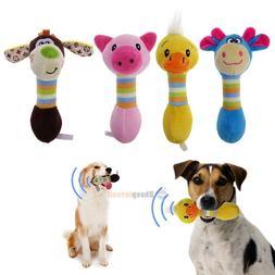 Funny Animal Shape Pet Puppy Dog Toys Soft Plush Sound Squea