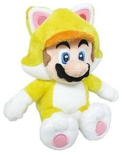 "New Little Buddy USA 10"" Cat Mario Stuffed Plush Doll Toy Fr"