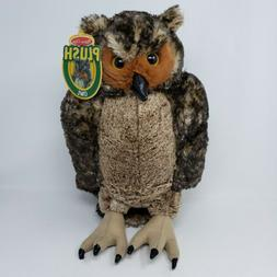 Melissa & Doug Giant Owl - Lifelike Stuffed Animal 17 inches