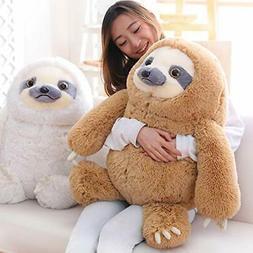 Winsterch Giant Sloth Stuffed Animal Toy Plush Sloth Gift Ba