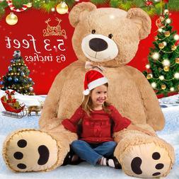 "Giant Teddy Bear 63"" Plush Stuffed Animal Toys Valentine Kid"