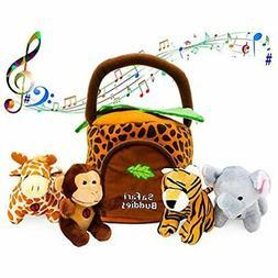 Gift 1 Year Old Educational Plush Toy Talking Animal Set (5