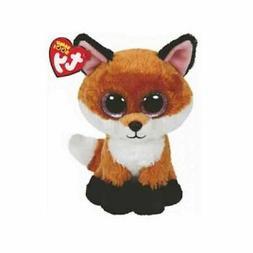 Girls Ty Beanie Boos Slick The Brown Fox Soft Plush Animals