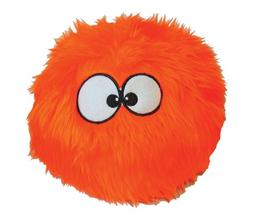 goDog Furballz Orange Dog Toy with Chew Guard