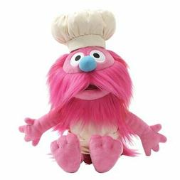 Long Pink Fur Bright Blue Nose Puffy Chefs Hat Sesame Street