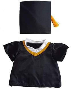 "Graduation Cap & Gown Outfit Teddy Bear Clothes Fit 14"" - 18"