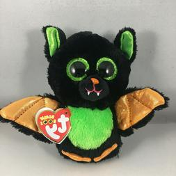 "TY Halloween Beanie Boos 6"" BEASTIE the Bat Plush Stuffed An"