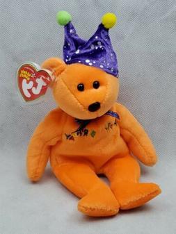 HAPPY BIRTHDAY BEAR orange 2005 TY Beanie Baby Plush Toy
