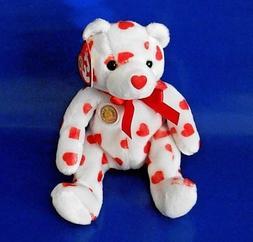 "TY HEARTTHROB LOVE BEANIE BABY BEAR 8"" inch MWMTS FEB 2004 B"
