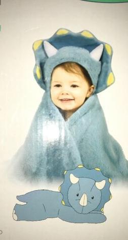 Animal Hugs Hooded Blue Dinosaur Blanket with Plush,