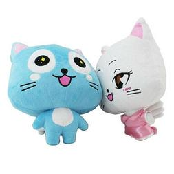 HOT Anime Fairy Tail Set of 2 Happy 12'' Plush Toy Stuffed D