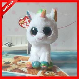 Hot Ty Beanie Boos Big Eyes Small Unicorn Plush Toy Doll Kaw