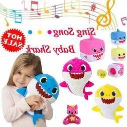 HOT! US Baby Shark Plush Singing Toys Music Doll English Son