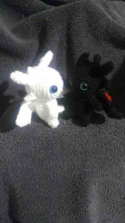 How to Train Your Dragon Toothless and light fury small croc