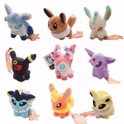 HYM 5''Pokemon Plush Toy Doll Eevee Leafeon Umbreon Jolteon