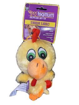 """Multipet International 43225 4"""" Knobby Noggins Plush Dog Toy"""