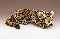 "Jaguar Lying Plush Toy 35"" Long with Tail By Wildlife Artist"
