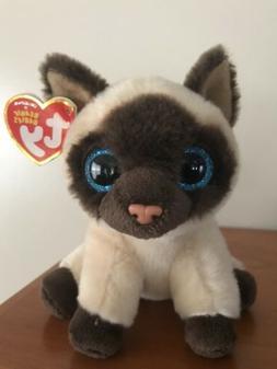 Ty Beanie Boos, Jayden, Siamese Cat Soft Plush Toy Nwt Mint