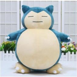 Jumbo SNORLAX Pokemon Center Kabigon Plush Toy Soft Doll 30c