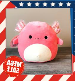 "Kellytoy Squishmallow 8"" Inch Archie Pink Axolotl Fish NEW S"