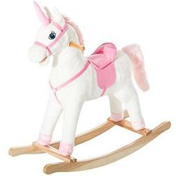 Kids GrownUp Toys Metal Plush Ride-On Unicorn Rocking Horse