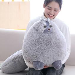 Winsterch Kids Large Fluffy Stuffed Cat Giant Plush Animal T
