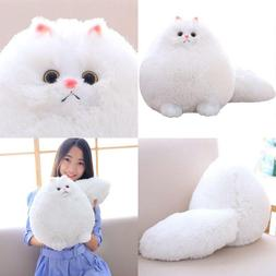 Winsterch Kids Stuffed Cats Toys Gift Animal Baby Doll,White