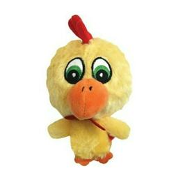 Multipet Knobby Noggin Chicken Squeaky Plush Dog Toy Bumpy H
