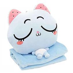KOSBON 3 In 1 Cute Cartoon Plush Stuffed Animal Toys Throw P