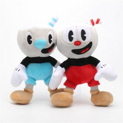 10 Inch Cuphead Game Plush Toy Cuphead & Mugman Mecup And Br