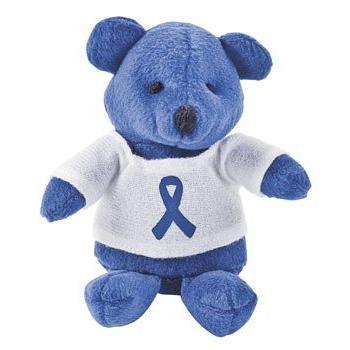 12 plush blue awareness ribbon