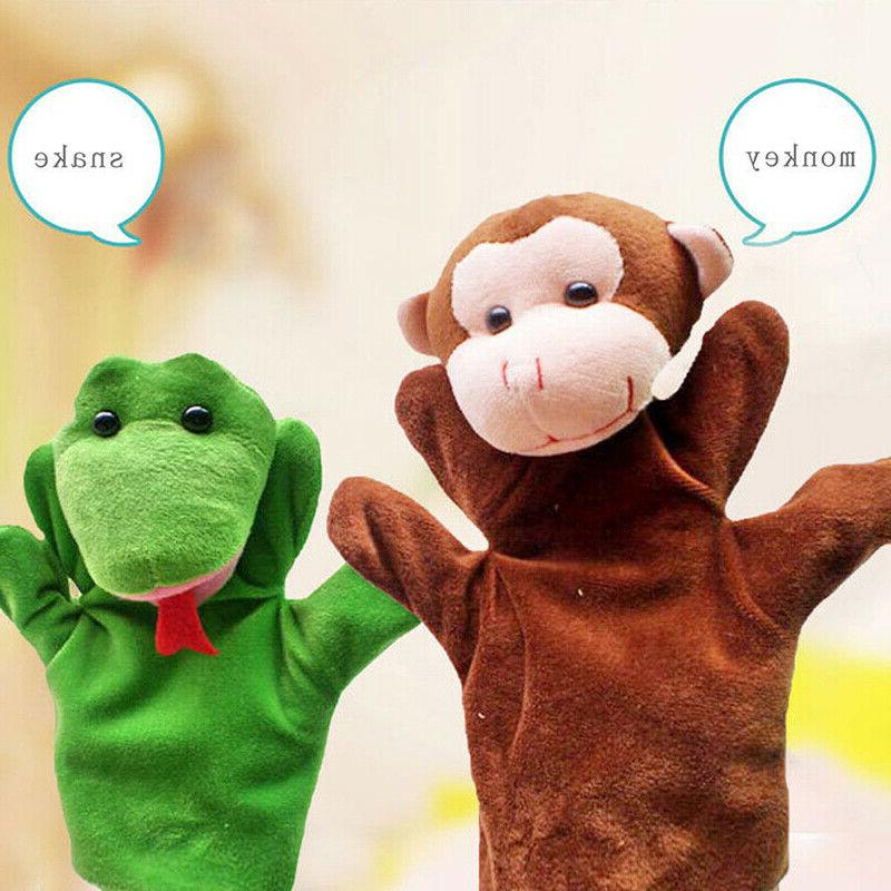 12 Hand Finger Puppets Cartoon Animal