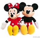 """DISNEY 17"""" MICKEY MOUSE & MINNIE MOUSE RED DRESS COMBO PLUSH"""