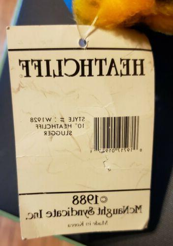 1988 Heathcliff Slugger Cat Plush by with