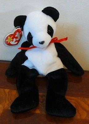 1997 TY BEANIE BABIES BABY  FORTUNE the PANDA BEAR   MWMT 8.