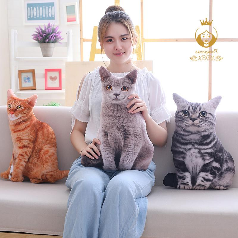 1PCS 50CM 3D <font><b>Cats</b></font> Pillow, Cute Kids Home Decoration