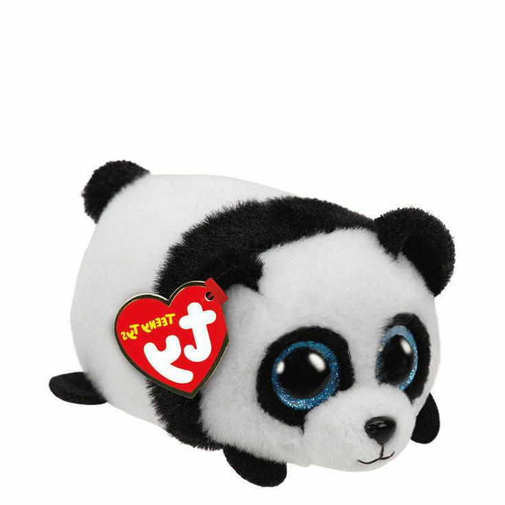 "New! 2017 TY Teeny Tys PUCK the Panda 3"" Stackable! nwt's IN"