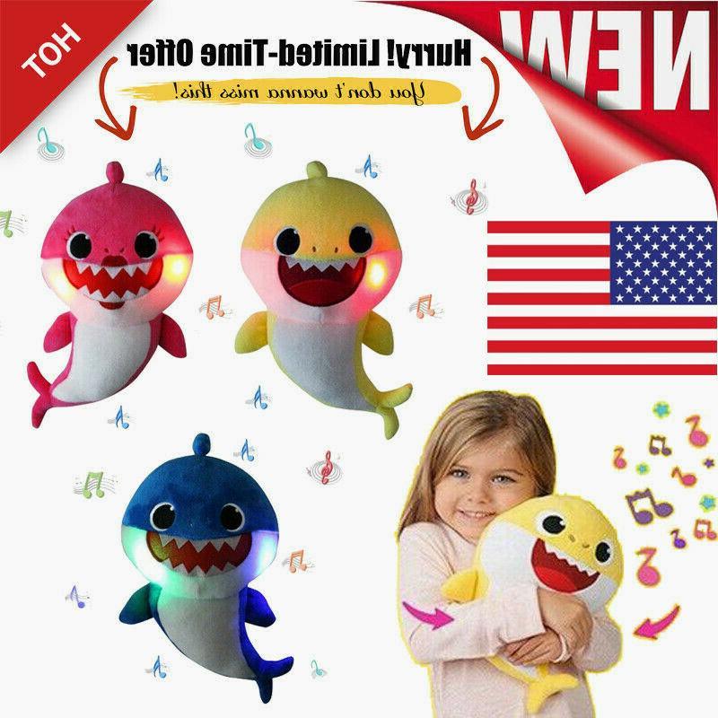 2019 Baby Plush LED Plush Toys Music Doll English Song Gift kids