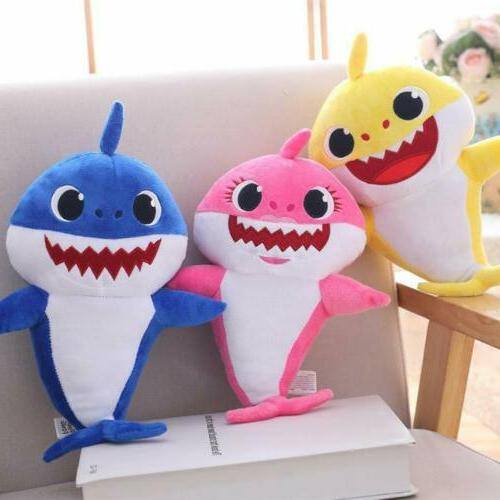 Baby Shark Plush Singing Cartoon Doll English Song Gift Stuffed