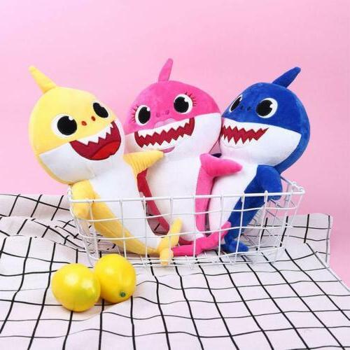 2019 Baby Shark Plush Singing Plush Toys Doll English Song Gift US