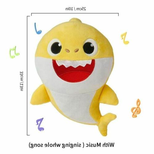 Baby Shark Plush Singing Toys Music Doll Kids Gift Stuffed