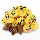 24 emoji smiley stuffed plush toy key
