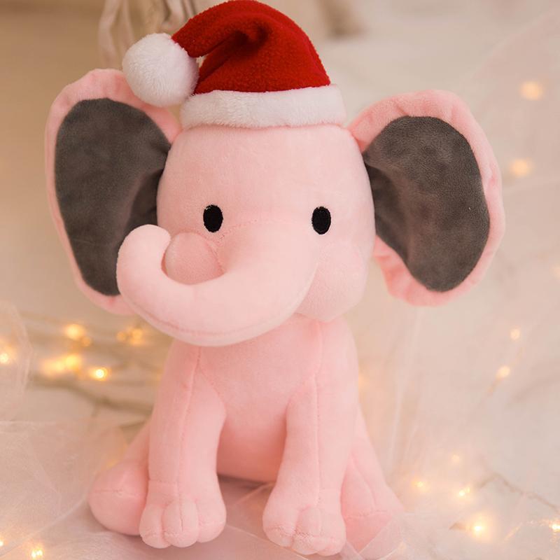 25cm Plush Kids Christmas Elephant Humphrey Doll <font><b>for</b></font> <font><b>Baby</b></font>