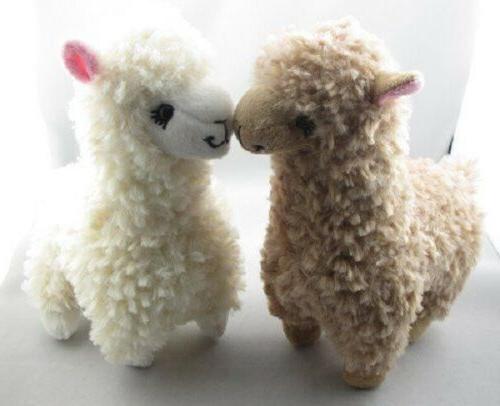 2x Cute Plush Toy 23CM Height Cream Animal Kids