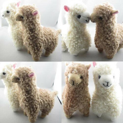 2x cute alpaca plush toy 23cm height